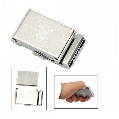 Stainless Steel Belt Buckle w/ Removable Spider Image Lighter