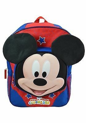 """Mickey 16"""" Backpack with Molded Face"""