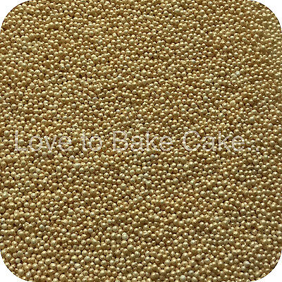 GOLD PEARLISED 100 & 1000s Edible Sugar Cupcake Sprinkles Cake Decoration