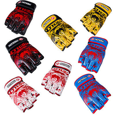 MMA UFC Sparring Grappling Boxing Fight Punch Ultimate Mitts Leather Glove