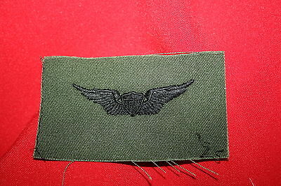 Us Vietnam Subdued Cloth Army Basic Pilot Aviator Wing Badge Insignia Helicopter
