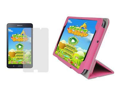 "T. Pink Folio Case Cover + Screen Protector for Samsung Galaxy Tab A 7"" SM-T280"