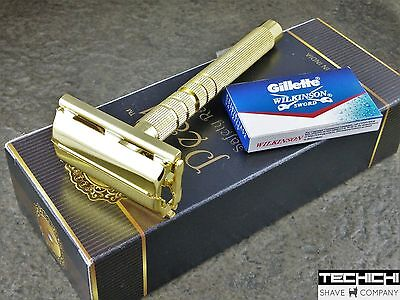 Pearl LS-01 Twist To Open Razor in Gold