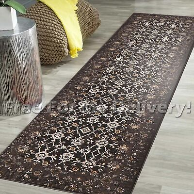 LEGACY VINTAGE STYLE BROWN TRADITIONAL RUG RUNNER 80x500cm **FREE DELIVERY**