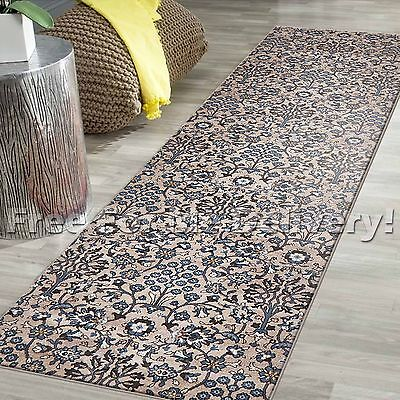 LEGACY VINTAGE STYLE BEIGE TRADITIONAL RUG RUNNER 80x400cm **FREE DELIVERY**