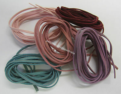 2 x 90cm Leather Suede Thong Various Colour For Beading, Jewellery Making, Craft