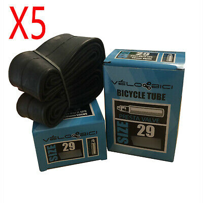 "5X 29"" Mtb Inner Tube 29 X 1.95/2.125 F/V P/V 48Mm French/Presta Valve By Velobi"