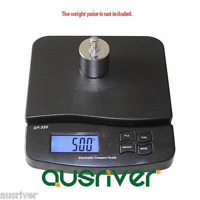 Premium Black 10kg/1g Electronic Commercial Postal Scales Digital Kitchen Scale