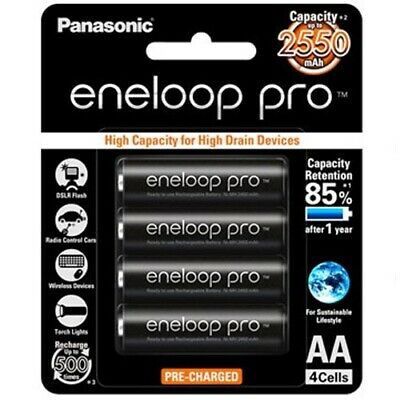 Panasonic Eneloop Rechargeable AA PRO Batteries 4 Pack (4 PK)[PANASONIC WARR]