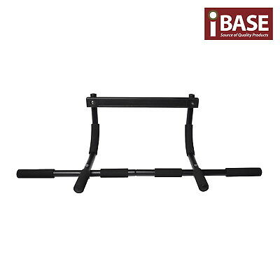 Chin Up Bar Wall Mount Dip Pullup Exercises Doorway Gym Equipment Portable Black