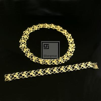 Georg Jensen Vintage Gold Jewelry Set, Bracelet & Necklace - #346 and #1070