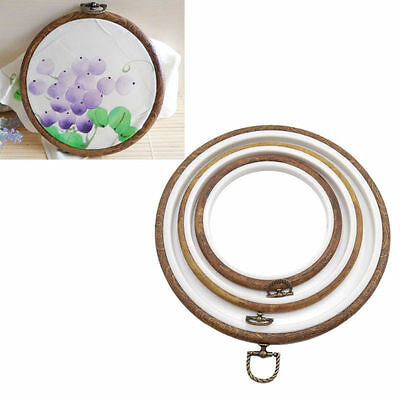 Vintage Wooden Cross Stitch Machine Embroidery Hoop Ring Handmade Sewing DIY 1pc