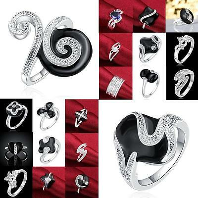 New Fashion Jewelry Solid 925 Sterling Silver Beautiful Men / Women 925 Ring