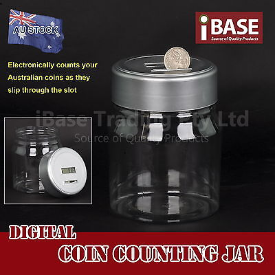 Digital Coin Counting Jar Automatic Money Box Bank Screen Electronic Piggy New