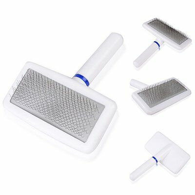 New Pet Puppy Dog Cat Hair Shedding Grooming Trimmer Fur Comb Brush Slicker Tool
