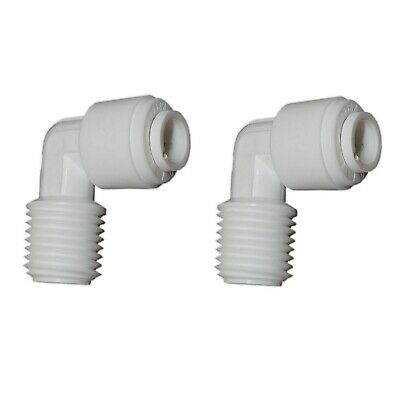 2x ELBOW Quick Push Connectors   Water Filter RO Tube Speed Fit   Pick Connector