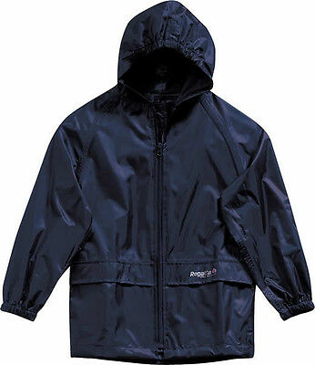 Regatta Kids Stormbreak Jacket Navy & Black Girls & Boys Waterproof Coat