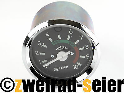 Tachometer Ø 2 3/8in with Chrome Ring 12V Simson S50 S51 S53 S70 S83