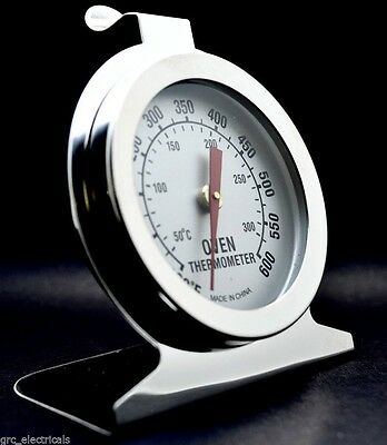 Stainless Steel Oven Thermometer / Temperature Gauge For Pizza Ovens UK STOCK