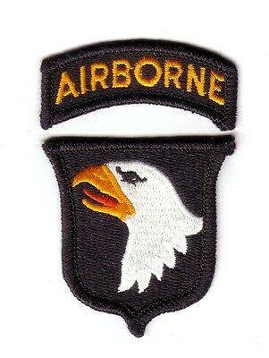 """101st AIRBORNE DIVISION """"Patch & Tab"""" (Fabrication Actuelle)"""