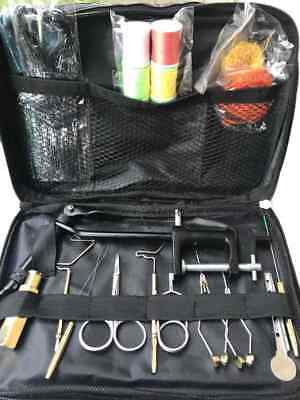 Complete Fly Tying Kit, Vice, Scissors, Bobbin, Tinsel, Whip Finisher, Pliers ..