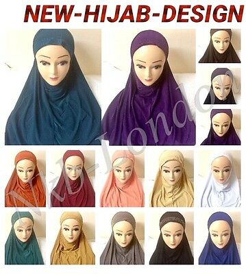 Muslim Girls Ladies Kids Readymade Hijab  Headscarf Stone Work Hijab  New Design