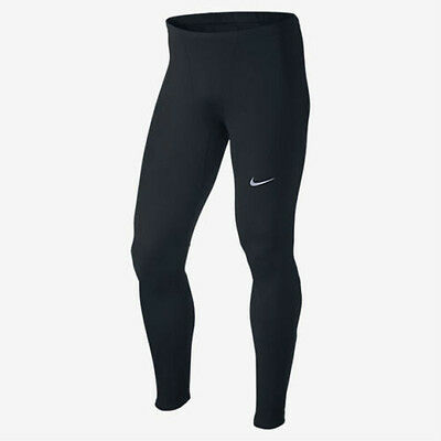 New Nike Men's Thermal Long Running Tights Black 683299-010