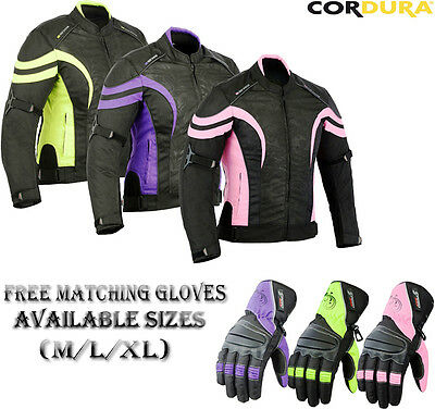 Ladies Speed Max Range Womens Motorbike Motorcycle Textile Short Winter Jacket