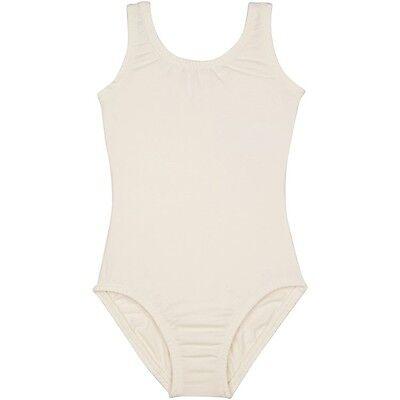 LINED IVORY CREAM Tank Leotard for Ballet and Gymnastics