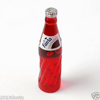 6 pcs Miniature Coke Bottles Dollhouse Grocery Store Supplies Cola 1:12 Scaled
