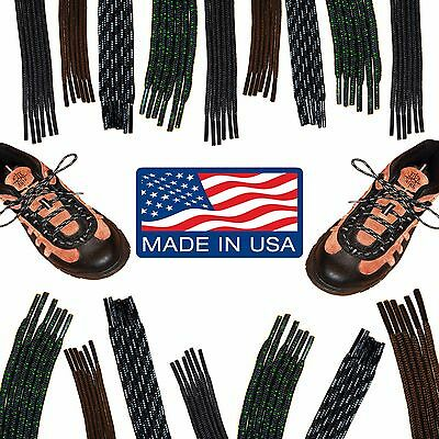 Round HIKING BOOT Shoelaces - 36 40 45 54 63 72 Inch Laces - Boot Strings - NEW