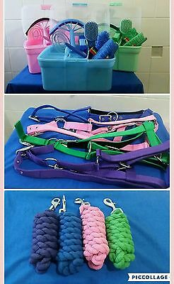 Horse care pack halter lead rope grooming kit combo