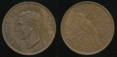 New Zealand, 1941 One Penny, 1d, George VI - Extra Fine