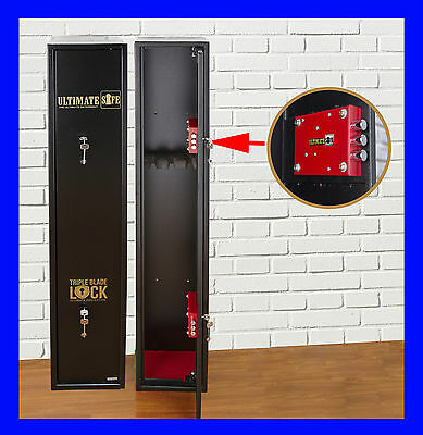 Ultimate Safe® 3 Shotgun Rifle Steel Gun Safe Cabinet Police Approved