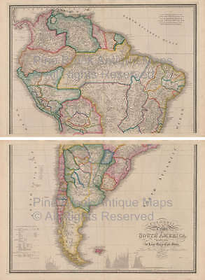 South America Vintage Map Wyld 1863 Original