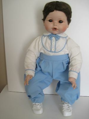 """Vincent J. DeFilippo Porcelain Baby Doll """"Vinnie"""" ~ 20"""" Tall ~ New in Box"""