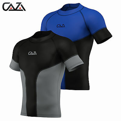 Mens Compression Armour Base Layer Top Half Sleeve Running Gym Sports Shirt