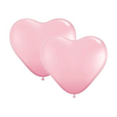 10 PINK HEART BALLOONS Helium Air Latex Wedding Engagement Anniversary Party