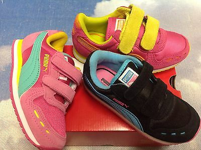 0977afe73f PUMA GIRLS CABANA Racer Hook & Loop Retro Running Sneaker Kid Size 1.5, 2