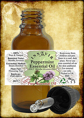 100% Pure Peppermint Essential Oil 100ml, 50ml, 30ml, 10ml+10% FREE