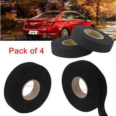 4 Rolls Car Automotive Wire Harness Wrap Adhesive Cloth Fabric Tape Cable looms