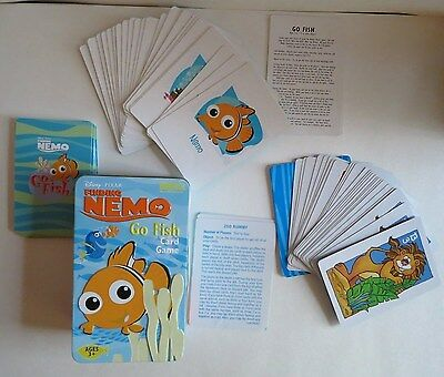 Finding Nemo Go Fish Card Game In Tin & Animal Go Rummy Game