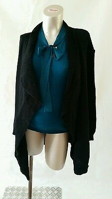 Maternity Ex ASOS NEW Black Waterfall Cardigan Size 8/10,12/14 & 16/18
