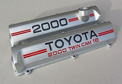 Toyota Celica 3S-GE Professionally Restored Cam Rocker Valve Covers ST162 3SGE