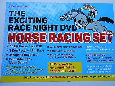 The Exciting Race Night Dvd Horse Racing Set Tickets / Quiz And Bingo