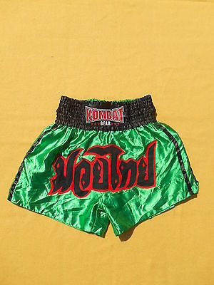 KOMBAT GEAR Shorts Muay UFC Thai Kick Boxing Martial Arts Fight MMA Combat Sport