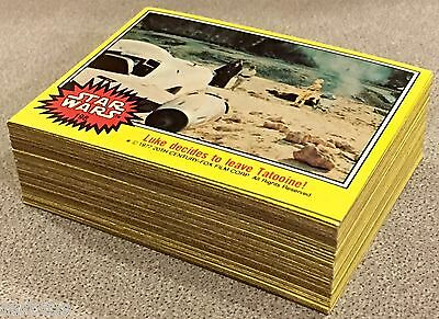 1977 / 1978 Star Wars Topps MINT Series 3 YELLOW SET Complete 66 CARDS VINTAGE