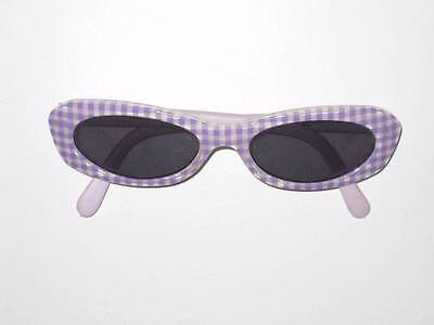 EUC Janie and Jack FROLIC THROUGH THE FLOWERS Gingham Sunglasses 6 12 18 24 2T