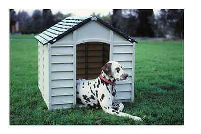 Waterproof Dog Kennel Plastic Pets Shelter Weatherproof Outdoors Dogs Home NEW