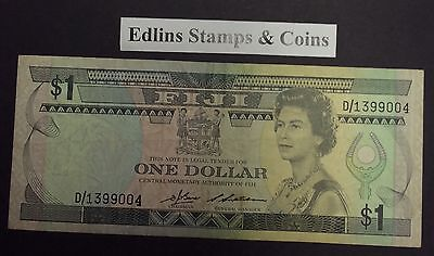 Fiji $1  bank note D/1399004  circulated condition